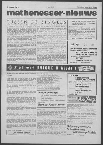 Mathenesser Nieuws 1963-11-07