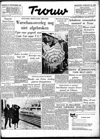 Trouw / De Rotterdammer 1958-09-26