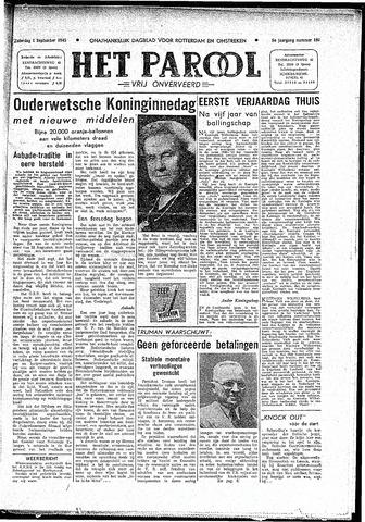 Rotterdamsch Parool / De Schiedammer 1945-09-01