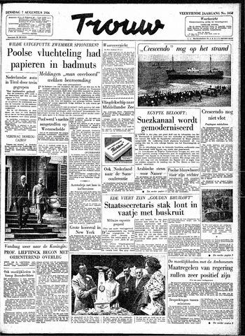 Trouw / De Rotterdammer 1956-08-07