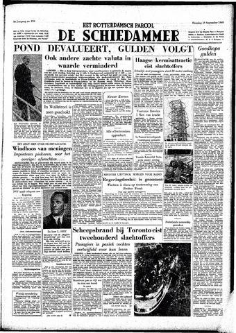 Rotterdamsch Parool / De Schiedammer 1949-09-19