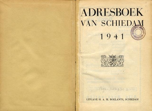 Adresboeken 1941-01-01