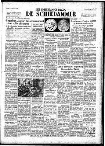 Rotterdamsch Parool / De Schiedammer 1948-02-13