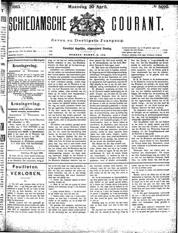 Schiedamsche Courant 1883-04-30