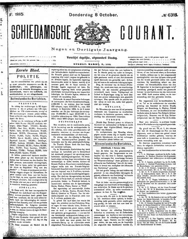 Schiedamsche Courant 1885-10-08
