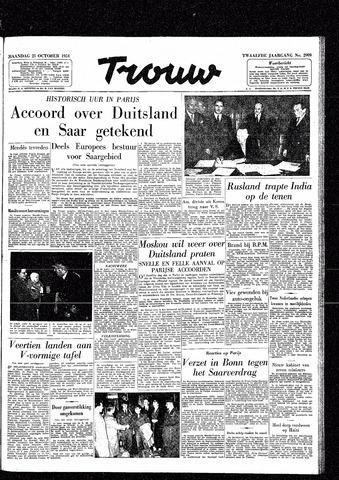 Trouw / De Rotterdammer 1954-10-25