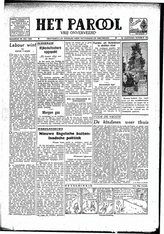 Rotterdamsch Parool / De Schiedammer 1945-07-30