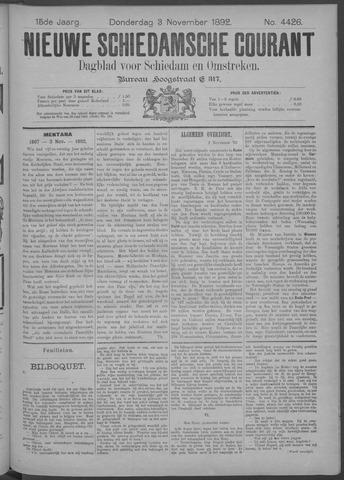 Nieuwe Schiedamsche Courant 1892-11-03