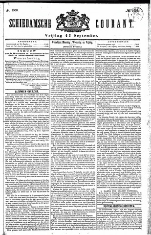 Schiedamsche Courant 1866-09-14