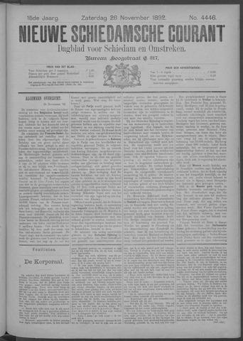 Nieuwe Schiedamsche Courant 1892-11-26