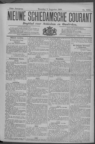 Nieuwe Schiedamsche Courant 1909-08-09