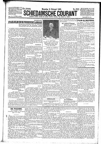 Schiedamsche Courant 1931-02-09