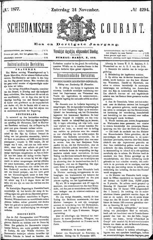 Schiedamsche Courant 1877-11-24