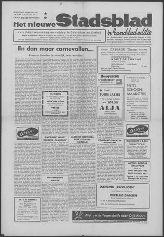 Het Nieuwe Stadsblad 1961-02-08