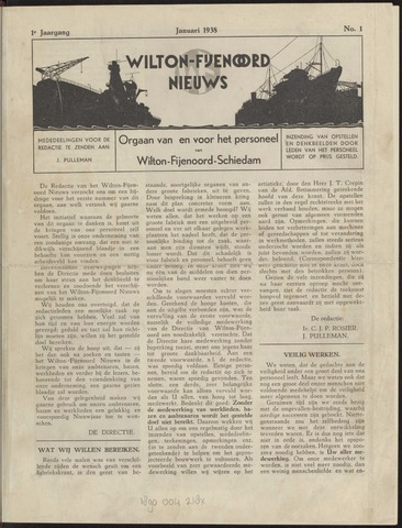 Wilton Fijenoord Nieuws 1938