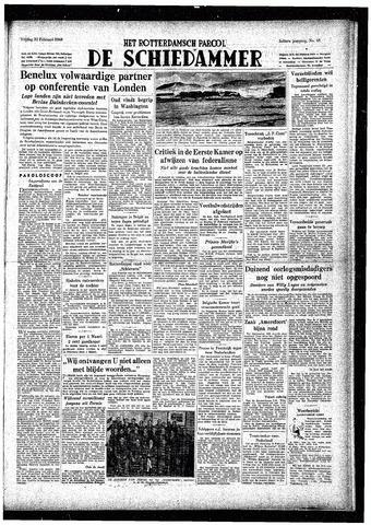 Rotterdamsch Parool / De Schiedammer 1948-02-20
