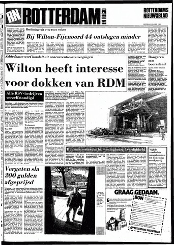 Rotterdamsch Nieuwsblad / Schiedamsche Courant / Rotterdams Dagblad / Waterweg / Algemeen Dagblad 1983-04-16