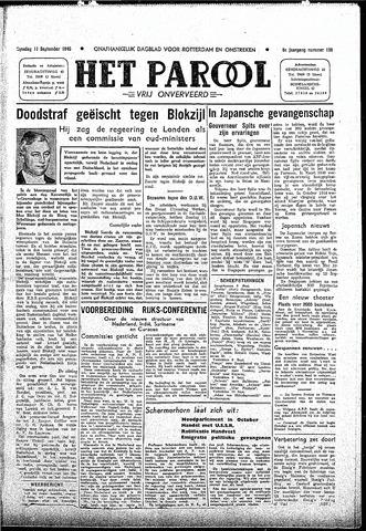Rotterdamsch Parool / De Schiedammer 1945-09-11