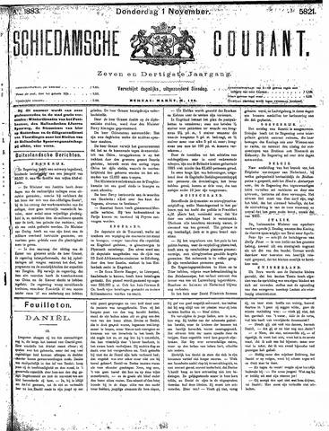 Schiedamsche Courant 1883-11-01