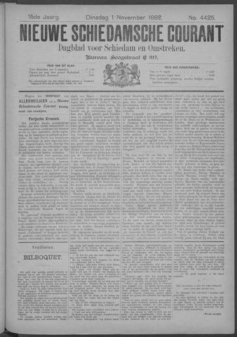 Nieuwe Schiedamsche Courant 1892-11-01