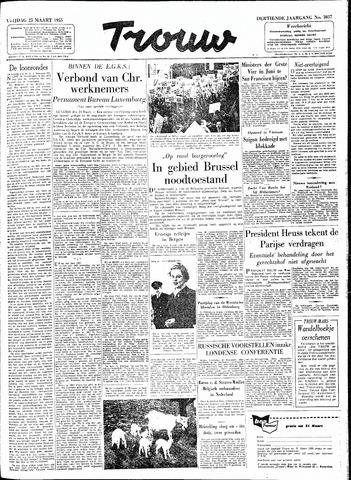Trouw / De Rotterdammer 1955-03-25