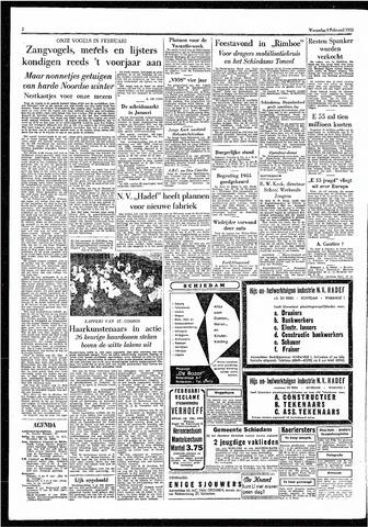 Rotterdamsch Parool / De Schiedammer 1955-02-09