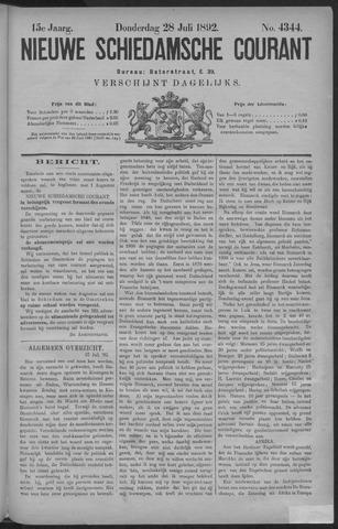 Nieuwe Schiedamsche Courant 1892-07-28