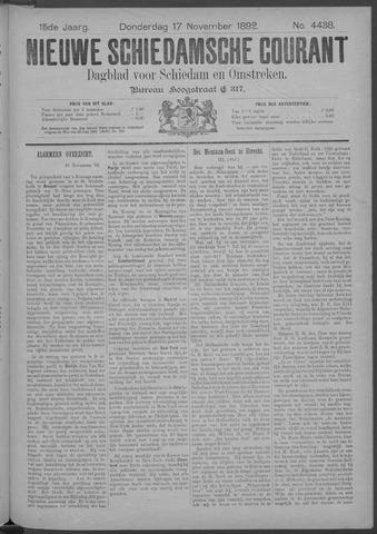 Nieuwe Schiedamsche Courant 1892-11-17