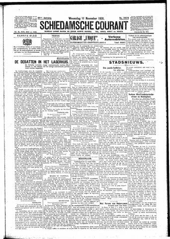 Schiedamsche Courant 1931-11-11