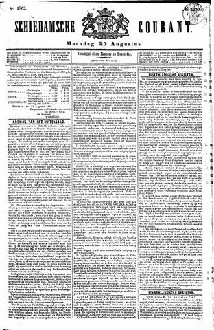 Schiedamsche Courant 1862-08-25
