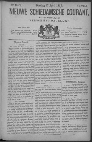 Nieuwe Schiedamsche Courant 1886-04-13