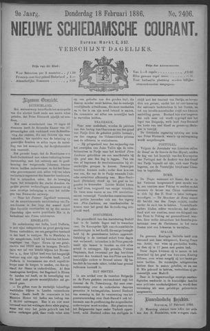 Nieuwe Schiedamsche Courant 1886-02-18