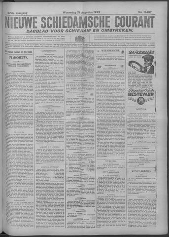 Nieuwe Schiedamsche Courant 1929-08-21