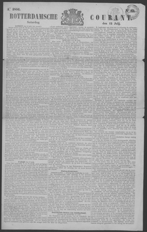 Rotterdamse Courant 1851-07-12