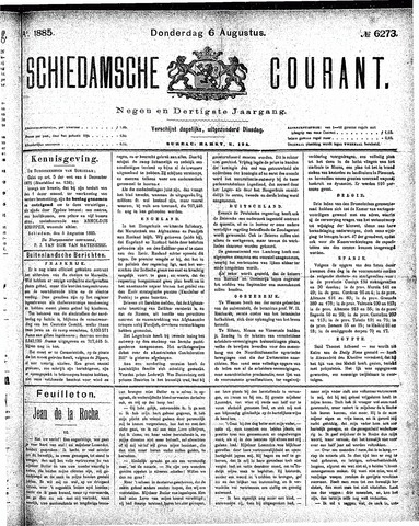 Schiedamsche Courant 1885-08-06
