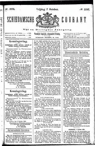 Schiedamsche Courant 1881-10-07