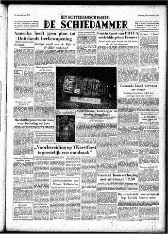 Rotterdamsch Parool / De Schiedammer 1949-11-28