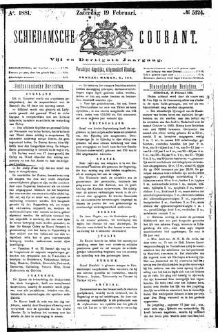 Schiedamsche Courant 1881-02-19