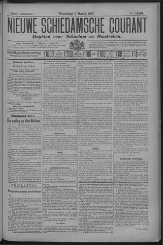 Nieuwe Schiedamsche Courant 1913-03-05