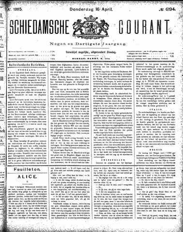 Schiedamsche Courant 1885-04-16