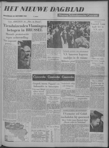 Nieuwe Schiedamsche Courant 1961-10-23