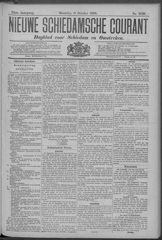 Nieuwe Schiedamsche Courant 1909-10-11