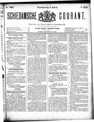 Schiedamsche Courant 1883-04-05