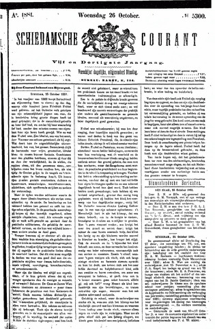 Schiedamsche Courant 1881-10-26
