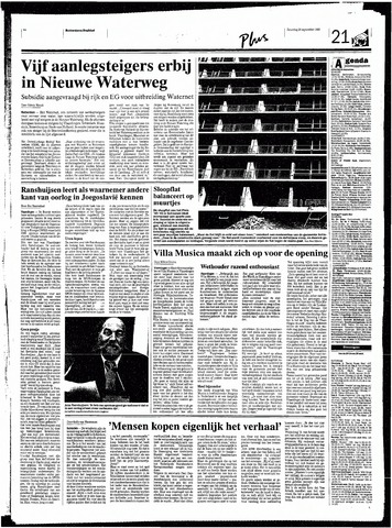 Rotterdamsch Nieuwsblad / Schiedamsche Courant / Rotterdams Dagblad / Waterweg / Algemeen Dagblad 1998-09-26