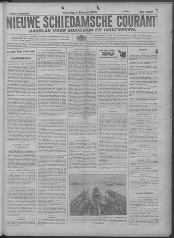 Nieuwe Schiedamsche Courant 1929-02-04