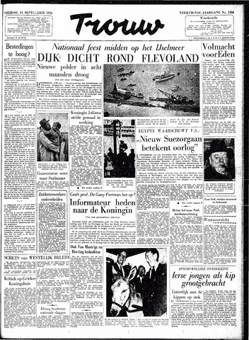 Trouw / De Rotterdammer 1956-09-14