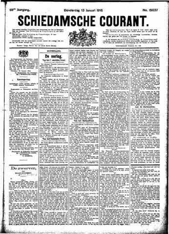 Schiedamsche Courant 1916-01-13