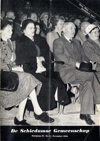 Schiedamse Gemeenschap (tijdschrift) 1958-11-01