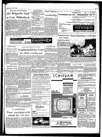 Rotterdamsch Parool / De Schiedammer 1962-11-10